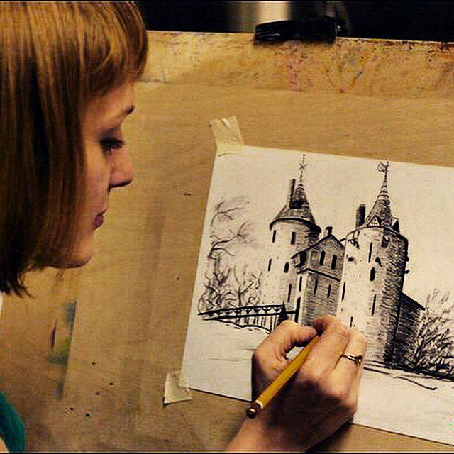 уроки рисования, собаки, цветы, рисую карандашом, обучение карандашу, мастер-класс по рисованию, рисование для начинающих