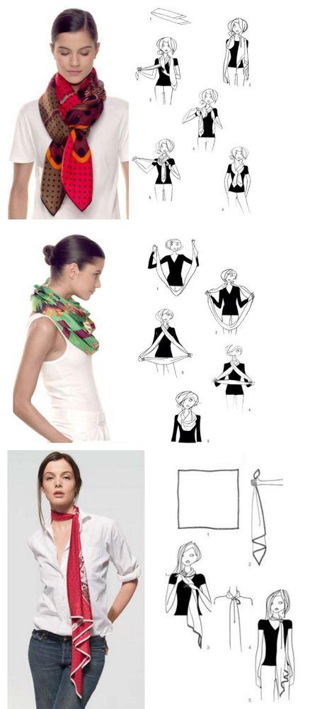 мода, шёлковый платок