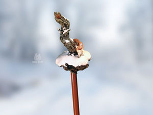 Волшебный карандаш «Лис на снегу». Видео мастер-класс. Ярмарка Мастеров - ручная работа, handmade.