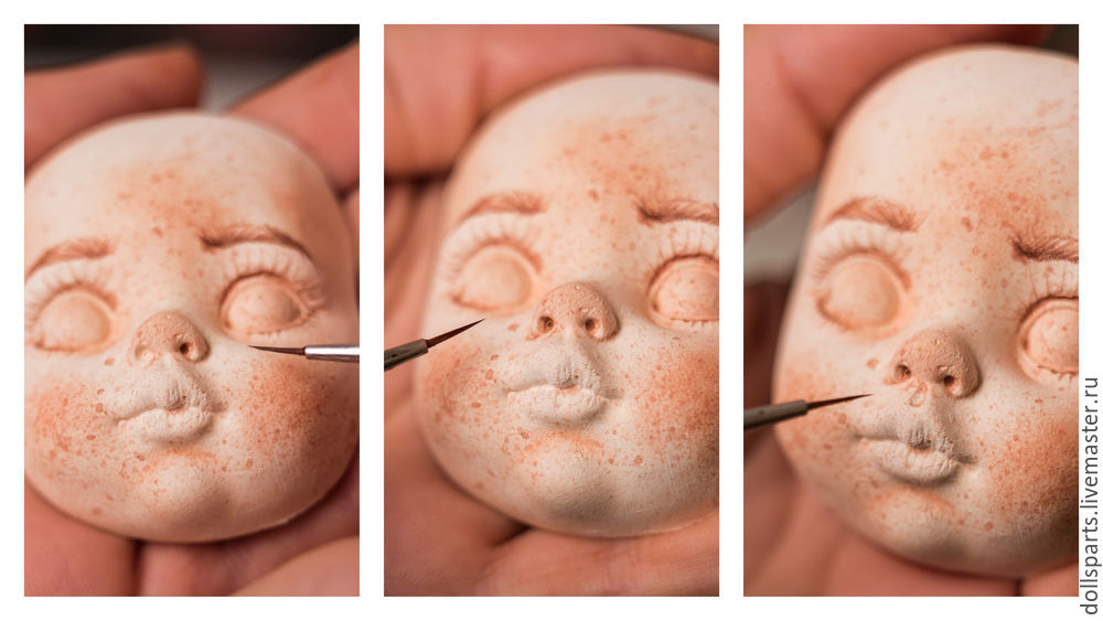 Pintura de clase magistral de la cara de una muñeca, foto No. 15