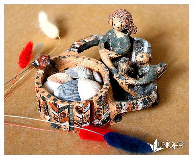 шкатулка, шкатулка для украшений, керамика, глиняная посуда, хранение, ангелы, вазочка