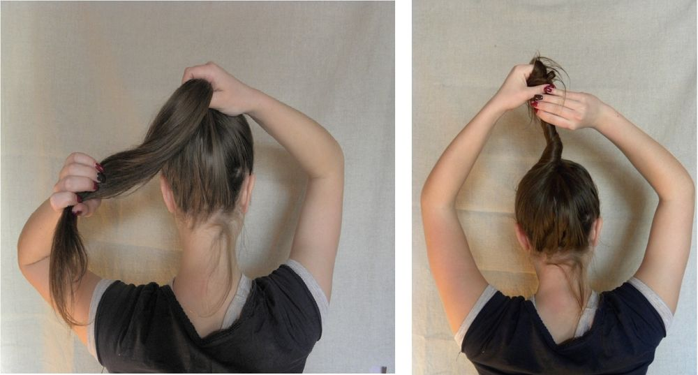 Как собрать волосы в пучок при помощи волшебной палочки, фото № 2