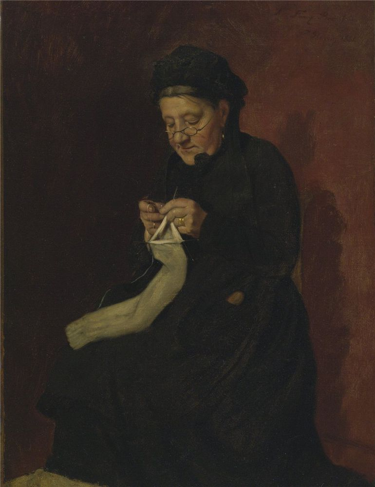 Когда есть чем заняться — стареть некогда: душевные картины о бабушках-рукодельницах, фото № 3