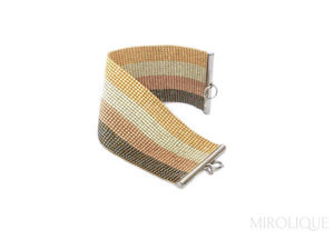 Видео новинки: полосатый браслет Золотой. Ярмарка Мастеров - ручная работа, handmade.