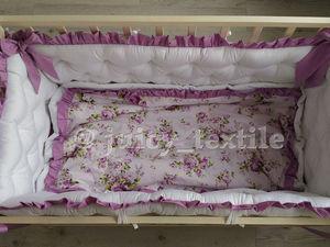 Видео-обзор комплекта в детскую кроватку Сиреневые нотки. Ярмарка Мастеров - ручная работа, handmade.