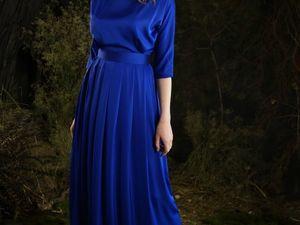 Платье  «Созвездие»  ультрамарин осталось два со скидкой 30%. Ярмарка Мастеров - ручная работа, handmade.