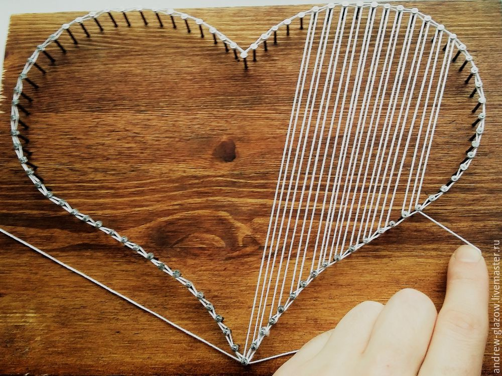 How to Make a String Art Heart, фото № 8