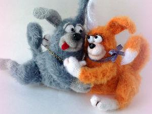Обнимашки - пара влюблённых собачек. | Ярмарка Мастеров - ручная работа, handmade