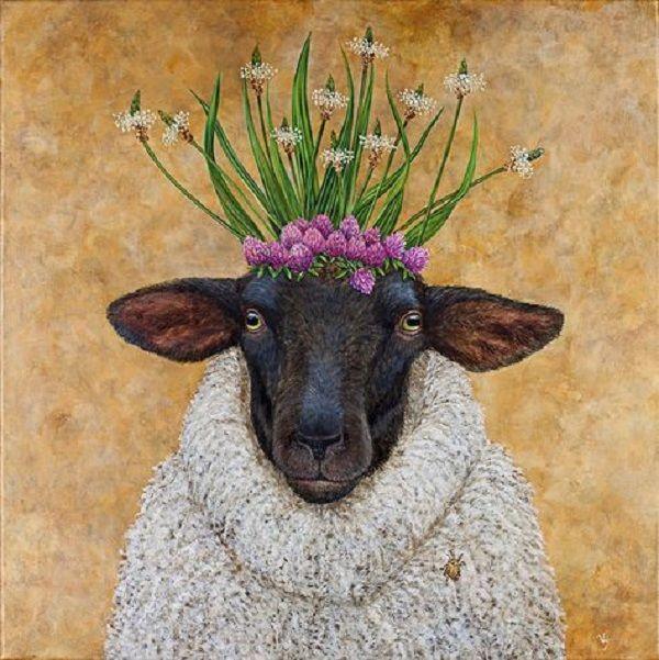 картина овечки