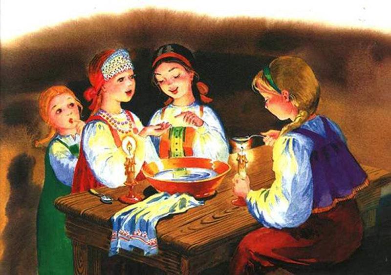 святочные гадания, развлечения для семьи, народные традиции, идеи к детскому празднику, новый год, подблюдные песни