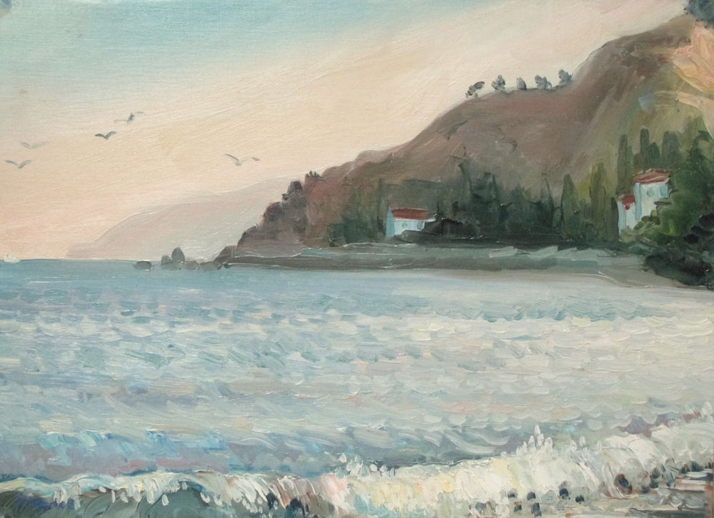 аукцион сегодня, аукцион, совместный аукцион, ярмарка мастеров, картина маслом, морской пейзаж