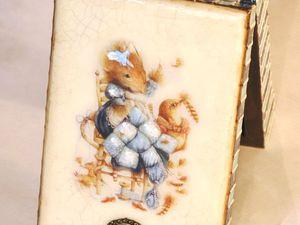 Видео мастер-класс по декупажу: процесс преображения шкатулки «Маленькая мышка». Часть 1. Ярмарка Мастеров - ручная работа, handmade.