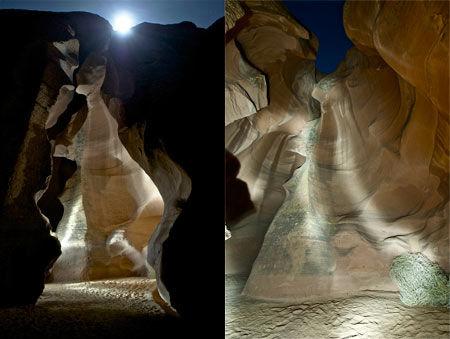 Каньон Антилопы ночью