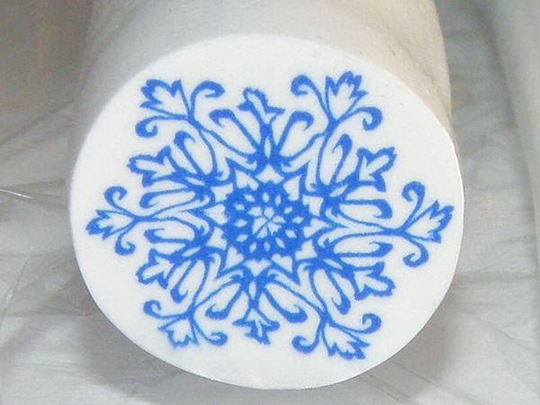 Создаем трость (кейн) ажурной снежинки из полимерной глины   Ярмарка Мастеров - ручная работа, handmade