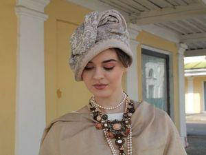 "Валяная шляпка — клош ""Шелковый путь"". Ярмарка Мастеров - ручная работа, handmade."