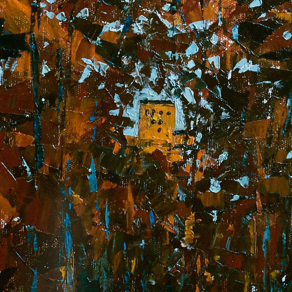 осенний пейзаж, большая картина, анна крюкова, импрессионизм, осенний пейзаж купить