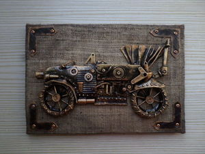 Создаем панно «Машина в стиле стим-панк». Ярмарка Мастеров - ручная работа, handmade.