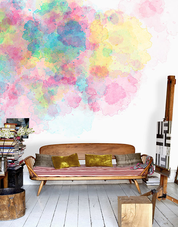 The Tenderest Interior: Abstract Watercolours on Modern Wallpapers, фото № 19