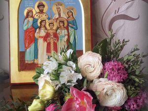 Закончена работа над иконой Царственных мучеников .   Ярмарка Мастеров - ручная работа, handmade