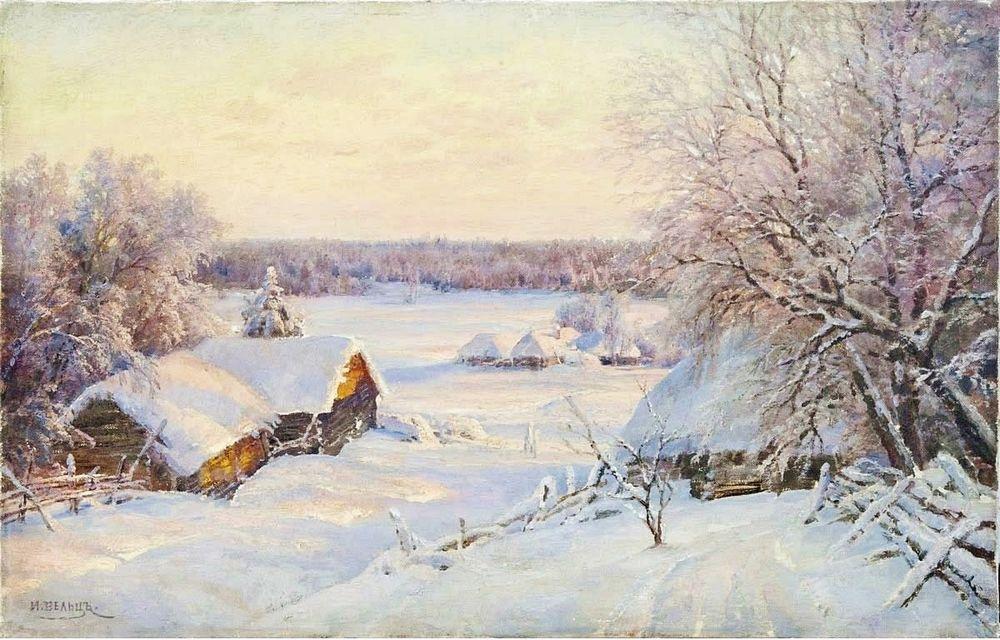 Сказочные зимние пейзажи русских художников