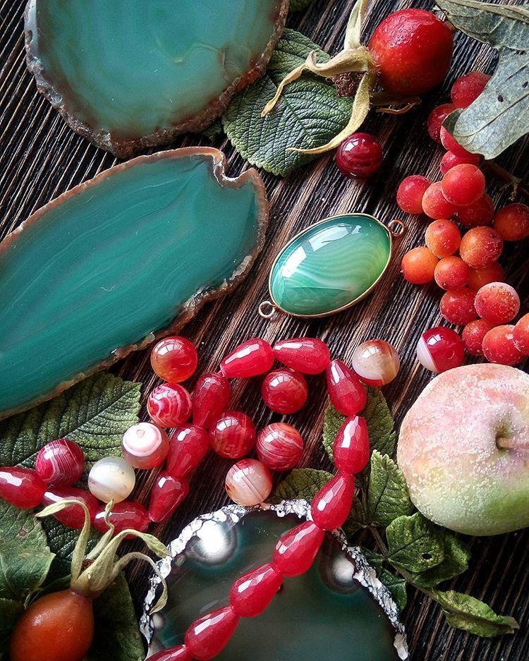 бусины из камней, бусины для украшений, купить камни