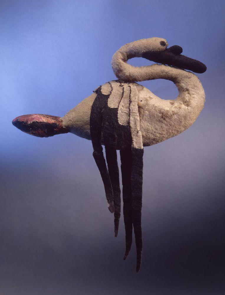 войлочная игрушка, лебедь, лебедь из шерсти, войлочный лебедь, древность, искусство скифов, скифская культура