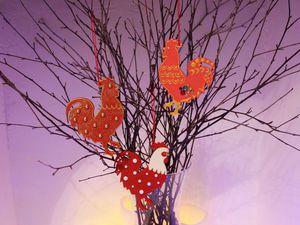 Делаем новогодних петушков из фанерных заготовок. Ярмарка Мастеров - ручная работа, handmade.