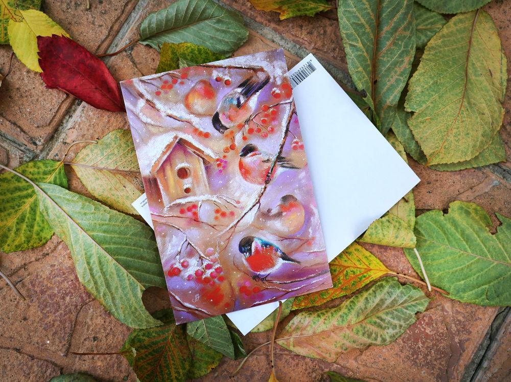 открытки, осенние открытки, открытки поштучно
