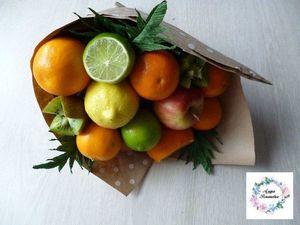 Видео мастер-класс: создаем букет из фруктов. Ярмарка Мастеров - ручная работа, handmade.