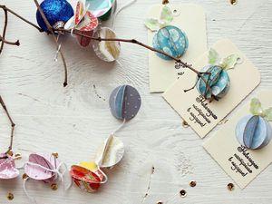 Новогодняя гирлянда и теги для подарков с помощью дырокола «Круг». Ярмарка Мастеров - ручная работа, handmade.