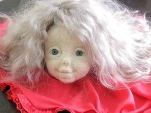 Как обклеить трикотажем голову текстильной куклы. Ярмарка Мастеров - ручная работа, handmade.