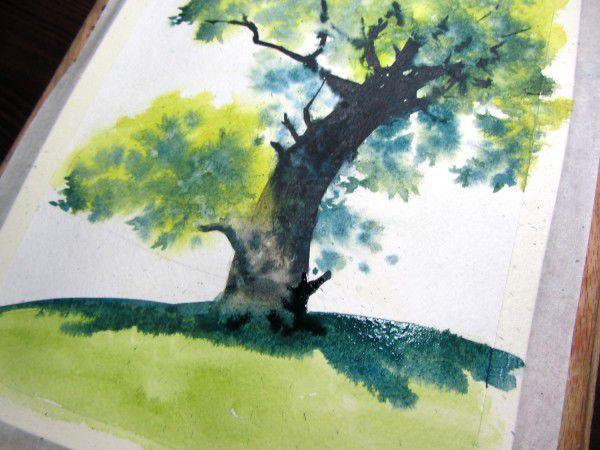 Как нарисовать дерево акварелью, фото № 20