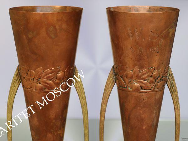 Раритетище 1905г Ваза 2шт медь бронза Wmf 94 | Ярмарка Мастеров - ручная работа, handmade