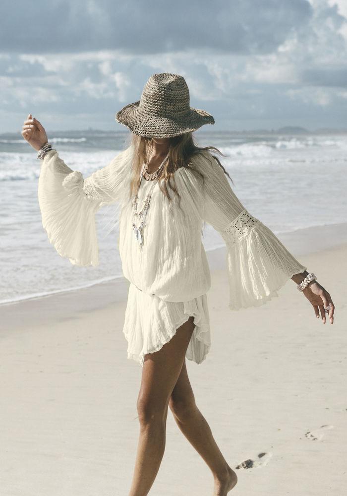 Белое бохо, или Шикарная одежда для королевы летнего пляжа, фото № 116