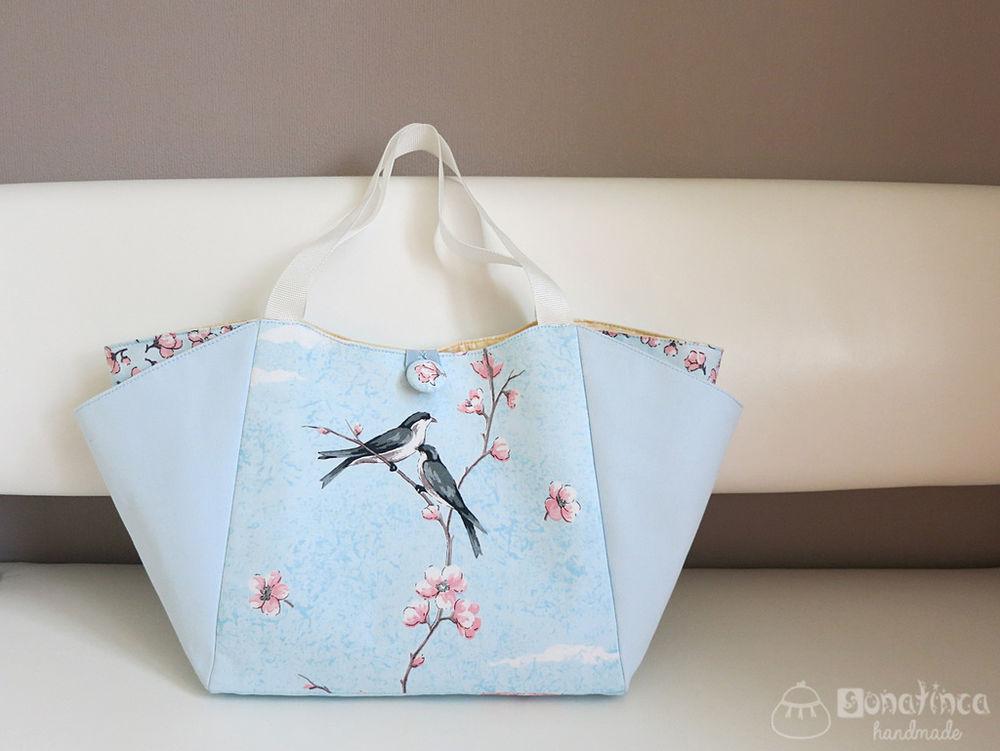 pdf, мастер-класс по шитью, сумка, пляжная сумка, цветы