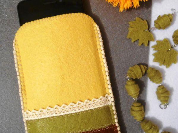 Шьем чехол из фетра для смартфона | Ярмарка Мастеров - ручная работа, handmade