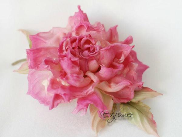 Цветы из шелка. Роза