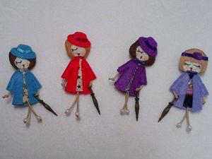 Куколки-брошки. Ярмарка Мастеров - ручная работа, handmade.