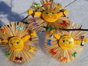 Весеннее Солнышко-магнит | Ярмарка Мастеров - ручная работа, handmade