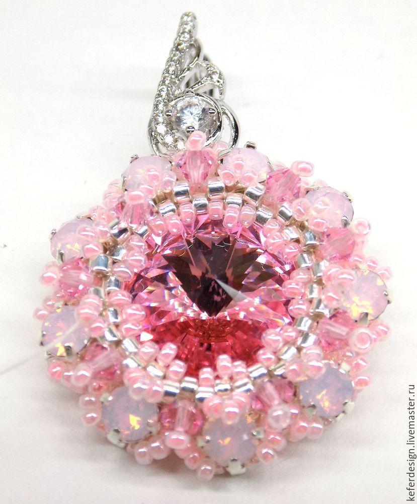 Серьги ручной работы «Цветущая сакура» из кристаллов Swarovski: процесс создания, фото № 14
