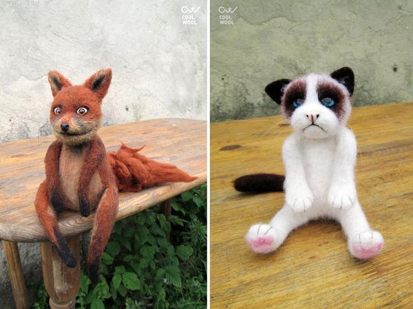 Скидка 40% на героев интернета - упоротую лису и угрюмого кота | Ярмарка Мастеров - ручная работа, handmade