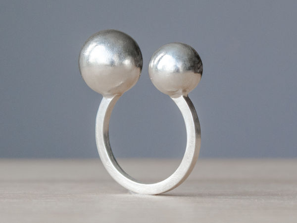 Изготавливаем серебряное кольцо с шариками   Ярмарка Мастеров - ручная работа, handmade