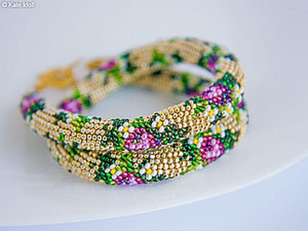 Making a Beaded Crochet Rope | Livemaster - handmade