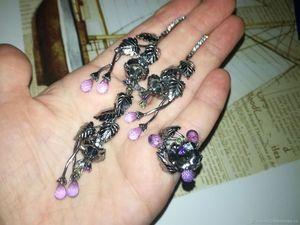 Скидка 20% комплект украшений с бриолетами. Ярмарка Мастеров - ручная работа, handmade.