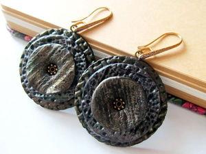 Мастер-класс:  «Лаконичные серьги из полимерной глины». Ярмарка Мастеров - ручная работа, handmade.