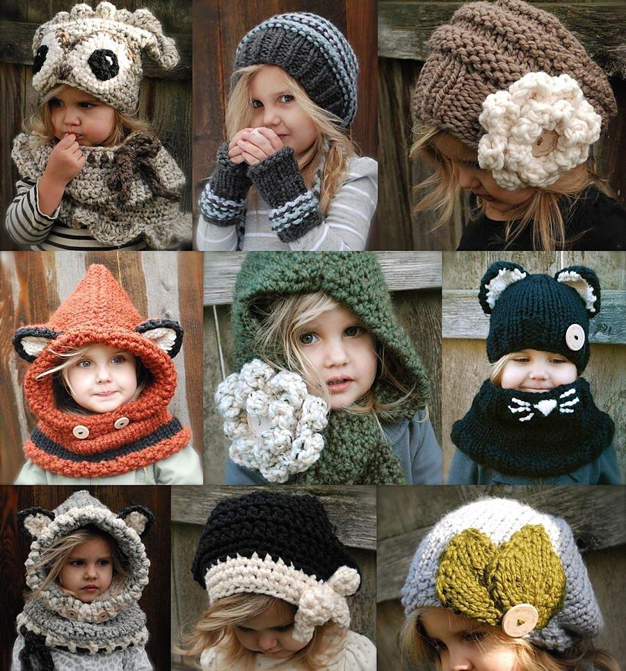 Оригинальная шапочка для девочки своими руками