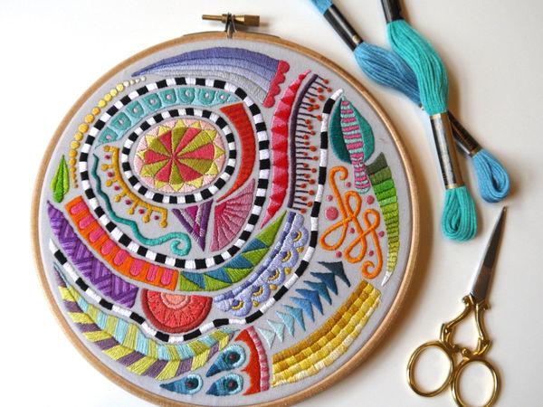Художественная вышивка Corinne Sleight | Ярмарка Мастеров - ручная работа, handmade