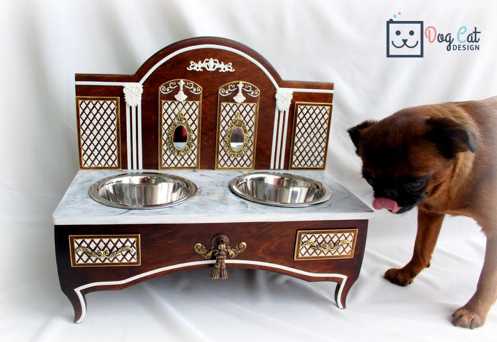 подставка под миски, интерьерная подставка, подарок для собаки, акссесуары для собаки