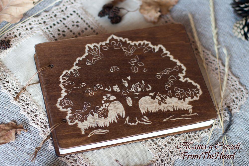 деревянный фотоальбом, эко