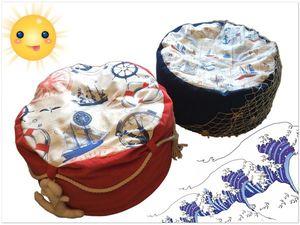 Море рядом: делаем пуфики в морском стиле для дома и дачи. Ярмарка Мастеров - ручная работа, handmade.